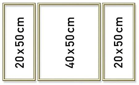 Schipper 605140707 - Malen nach Zahlen Triptychon Alurahmen, 50 x 80 ...
