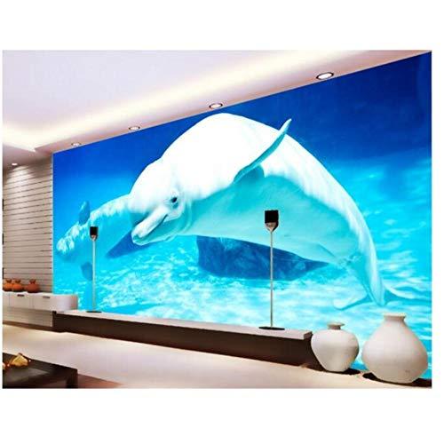 Fifikoj 3D Room Wallpaper Mural Wall Sticker 3 d Sea World Whale Aquarium Painting Photo 3D Wall murals wallpaper-280x180cm