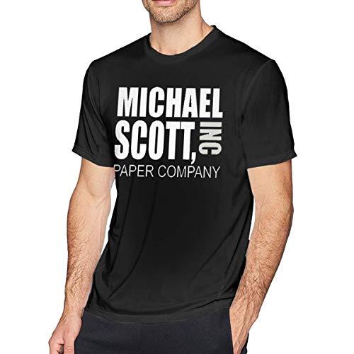 (SheilaCHENMontroy Men Michael Scott Paper Company T Shirt L)