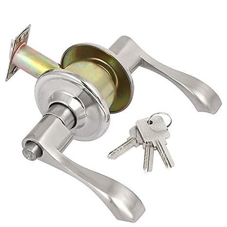 eDealMax doméstico Aseo Puerta de la mano izquierda en forma de L cerradura de la manija