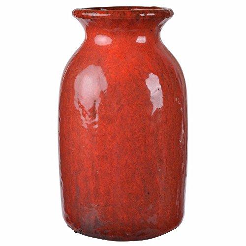 Benzara Curvy Traditional Vase in Elegant Glossy Finish.