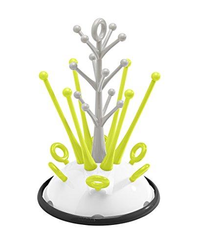 Beaba Baby Bottle Countertop Tree Drying Rack, Neon Modern Design