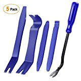GOOACC 5PCS Auto Trim Removal Tool Kit No-Scratch Pry Tool Kit for Car Door Clip Panel & Audio Dashboard Dismantle -5PCS