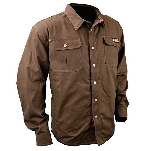 DEWALT DCHJ081TD1-XL Heated Heavy Duty Shirt Jacket, XL, Tobacco by DEWALT (Image #1)