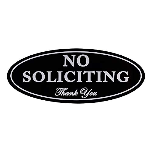 "No Soliciting Sign with Magnets on The Back, Black, 2.8"" x 7"", Keeps Unwanted Visitors Away, No Deforming, Residue Free Adhesive Included by Kichwit (Image #7)"