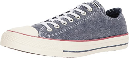 Converse Chuck Taylor All Star OX Unisex Sneakers Navy/Navy/White 159539f (5 D(M) US)