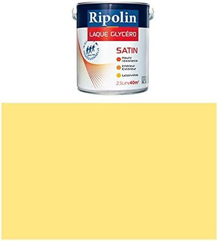 Ripolin 0.5 Litre jaune lumi/ère Boiseries et structures m/étalliques Peinture Glyc/éro D/éco Satin