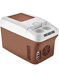 SL&BX 24v car refrigerator,Large truck fridge 12v car special car mini dual warming box portable mini fridge for home,Office,Car or boat -brown 27.6x18.5x23.2cm(11x7x9inch)