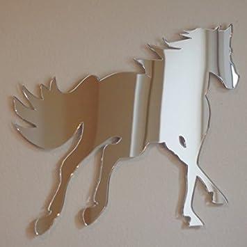 Amazonde Onemtoss Spiegel Deko Wandspiegel Pferd Spiegel 28cm X