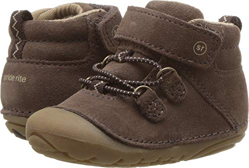 Dark Brown Kid Suede Footwear - Stride Rite Blake Baby Boy's High-Top Suede Sneaker Ankle Boot, Dark Brown, 5.5 M US Toddler