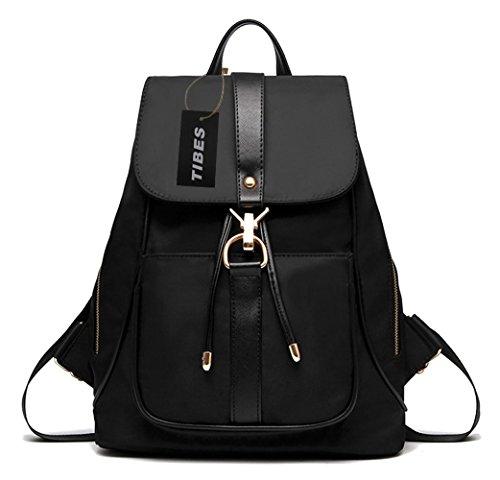 Casual Womens Backpack (Tibes Casual Waterproof Backpack for Women Black)