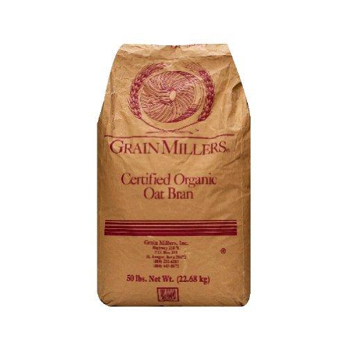Grain Millers Organic Premium Fine Oat Bran, 50 Pound -- 1 each by Grain Millers