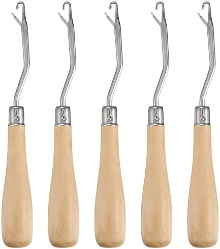 Maosifang 6.5 Inch Wooden Latch Hook Tool for Rug Making and Art Crafts,3 Pack