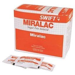 Honeywell 171550 Swift First Aid Miralac Sugar Free Antacid Indigestion Tablet (2 Per Pack, 250 Packs Per Box, 1 Box)