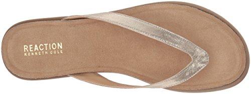 Kenneth Soft Gold Thong Cole Flat Ing Women's Sandal REACTION Jel nFwSqg6