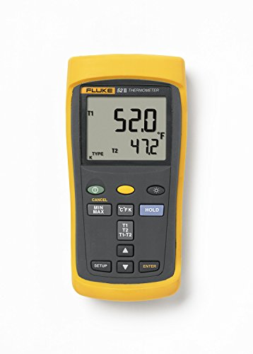Fluke 52-2 Dual Input Digital Thermometer with a NIST-Traceable Calibration Certificate with Data by Fluke