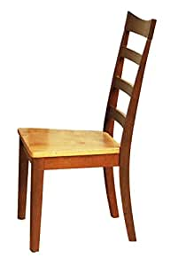Ladderback Side Chair in Honey and Chestnut Finish - Set of 2