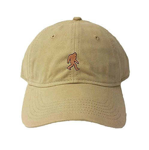 Go All Out Adjustable Khaki Adult Bigfoot Sasquatch Embroidered Deluxe Dad Hat