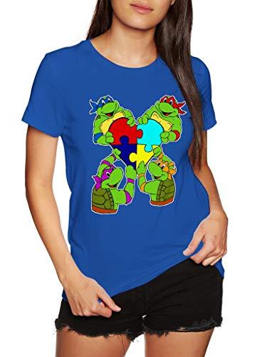 Autism Teenage Mutant Ninja Turtles Puzzle Pieces - Funny Vintage Trending Awesome Gift Shirt (Unisex Royal Blue, -
