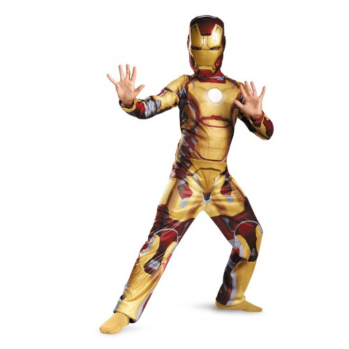 Tony Stark Arc Reactor Costume (Iron Man Mark 42 Classic Child Costume - Large)