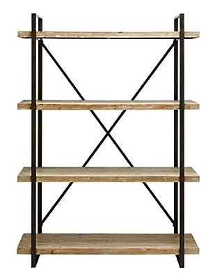 Deco 79 Metal/Wood Shelf, Black
