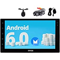 Android 6.0 Marshmallow in Dash 7inch Double din Car Stereo with GPS Navigation Autoradio Bluetooth Car Player External Microphone Front & Reverse Camera Headunit support Wifi/Mirror Link USB/SD