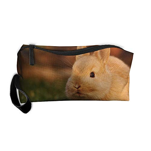 Jessent Coin Pouch Rabbits Pen Holder Clutch Wristlet Wallets Purse Portable Storage Case Cosmetic Bags Zipper ()