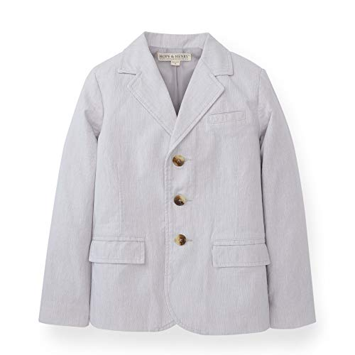 Hope & Henry Boys' Light Grey Linen Suit Jacket