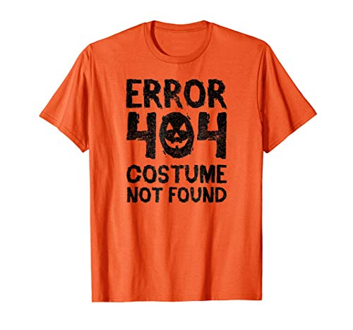 Error 404 halloween costume not found funny party -