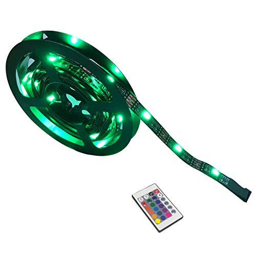 Yasolote 2M Tiras de LED RGB Iluminación Trasera para TV, PC 60 LED 5V USB con Control Remoto Ideal para TV de 40 a 60...