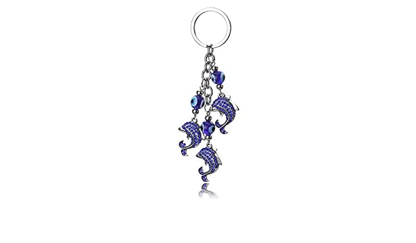 Amazon.com: Eaglers Llavero Metal Dolphin Keychain Trendy ...