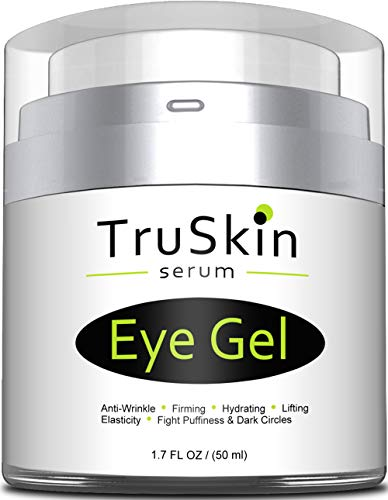 (Best Eye Gel for Wrinkles, Dark Circles, Under Eye Puffy Bags, Crepe Eyes, Super Eye Cream Moisturizer Serum for Men & Women - 1.7 fl oz)