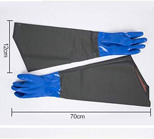 YSNUK Guantes de Manga Larga Goma Impermeable Engrosamiento Guantes industriales Largos Pl/ástico Resistente al /ácido Resistente a los /álcalis Resistente al Desgaste Gasolinera Almacenaje Hielo Seco