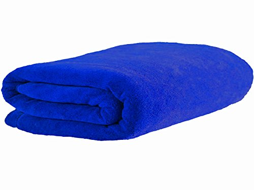 Simplfie Luxury Microfiber Bath Towel Extra Large Bath Sheet Blue Beach Towel Fast Drying Bathroom Towel (36 Inch X 72 Inch, Dark Blue)