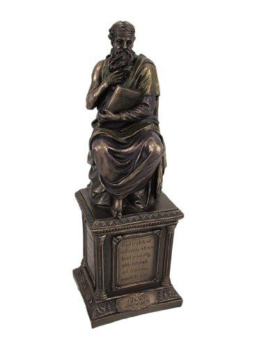 Veronese Design Bronze Finish Plato Statue Philosophy