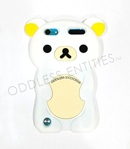 3D Silicone Rubber Cartoon Teddy Rilakkuma Bear Case for iPod Touch 5th & 6th Gen (White)