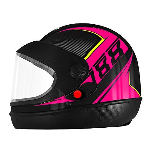 Pro Tork Capacete Super Sport Moto 2019 60 Preto/Rosa