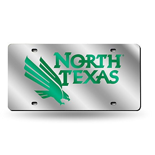 Green Laser Cut License Plate - Rico NCAA North Texas Mean Green Logo Laser Cut License Plate