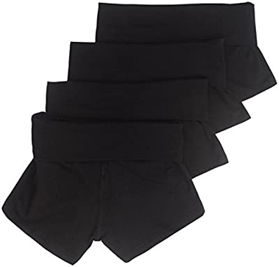 4 Pack Active Basic Women's Yoga Shorts Small Black, Black, Black, Black