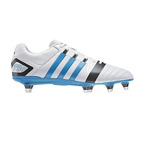 ADIDAS II Botas de fútbol FF80 TRX SG [de color blanco/azul/gris] Negro - negro