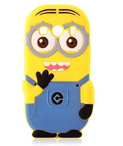 S3 Case,Galaxy S3 Case,Galaxy S3 Silicone Case,Bat King 3D Cute Cartoon Yellow Slave Soft Silicone Gel Rubber Case Cover Skin for Samsung Galaxy S3 i9300(Yellow Slave)