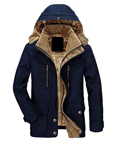 Windbreaker Gocgt Coat 3 Parka Outerwear Military Men's Sherpa Hood 1rwqrIx4