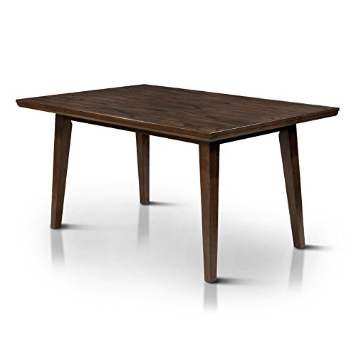 HOMES Inside Out Jenka Walnut Jenak Mid-Century Modern Dining Table,
