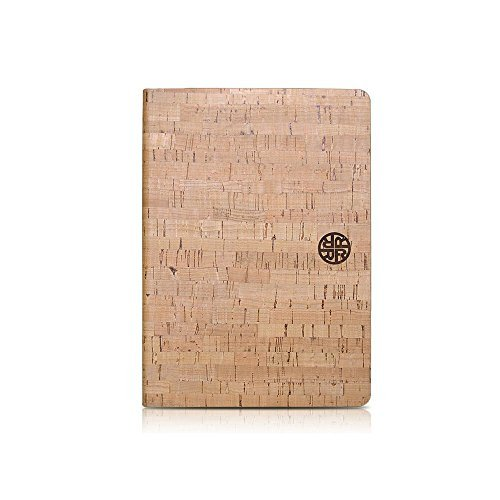 iPad Air 2 Folio - Lavalle Cork Wood Case by Reveal - Natural Cork Leather Exterior, Eco-Friendly Design
