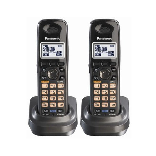 - Panasonic KX-TGA939T 1.9GHz DECT 6.0 Additional Handset for Cordless Phone System (2 Pack)