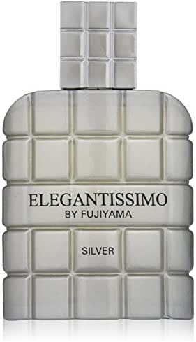 Fujiyama Elegantissimo Cologne Spray for Men, Silver, 3.3 Ounce