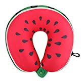 U Shaped Pillow - SODIAL(R) Fruit U Shaped Pillow Travel Pillows Cushion Nanoparticles Neck Pillow Car Travel Pillow £¨ Watermelon£©