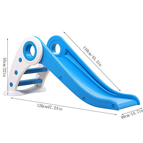 Thole Slide Climber fold Indoor Outdoor Backyard Use First Playground Plastic Play Boys Girls,Blue by Thole (Image #6)