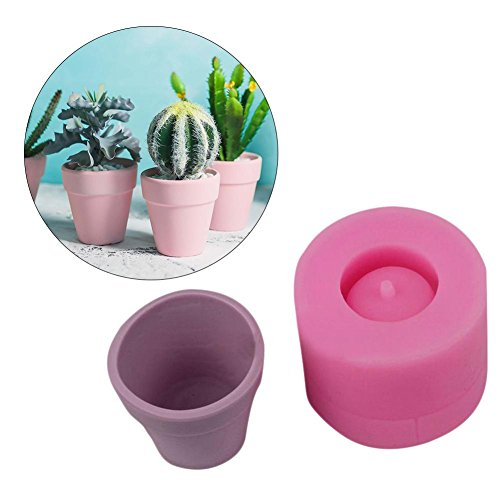 (Cute 3D Barrel Flower Succulent Plant Flower Pot Silicone Mold, DIY Clay Resin Craft Molds, Perfect for Handmade Candy/Chocolate/Ice/Soap)