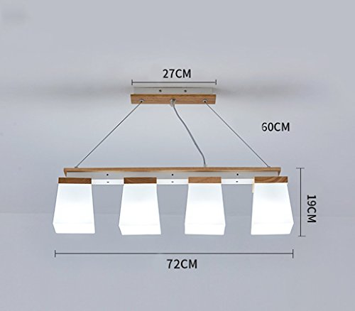 deng E274 Wooden Pendant Light Pendulum Lamp Hanging Lamp Ceiling Lamp Dining Table Living Room Office Cafe Hanging Lights,White Light